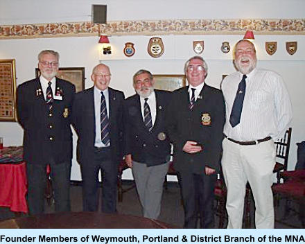 Founder Members of Weymouth, Portland & District Branch of the MNA